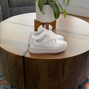 NIKE Air Force ones size women's 8 worn 2 times